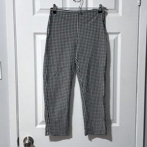 The Limited Stretch Gingham Pattern Zip Pants Sz 0
